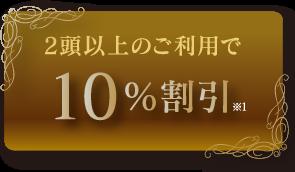 2等以上のご利用で10%割引